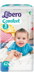 Libero Comfort Size 3 (5-9 kg)- pack of 62 or 88
